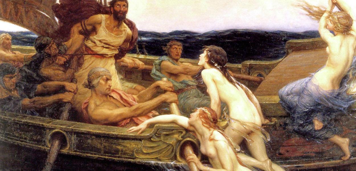 Herbert James Draper: 'Ulisses e as sereias', pintura de 1909 sobre o trecho estudado por Adorno