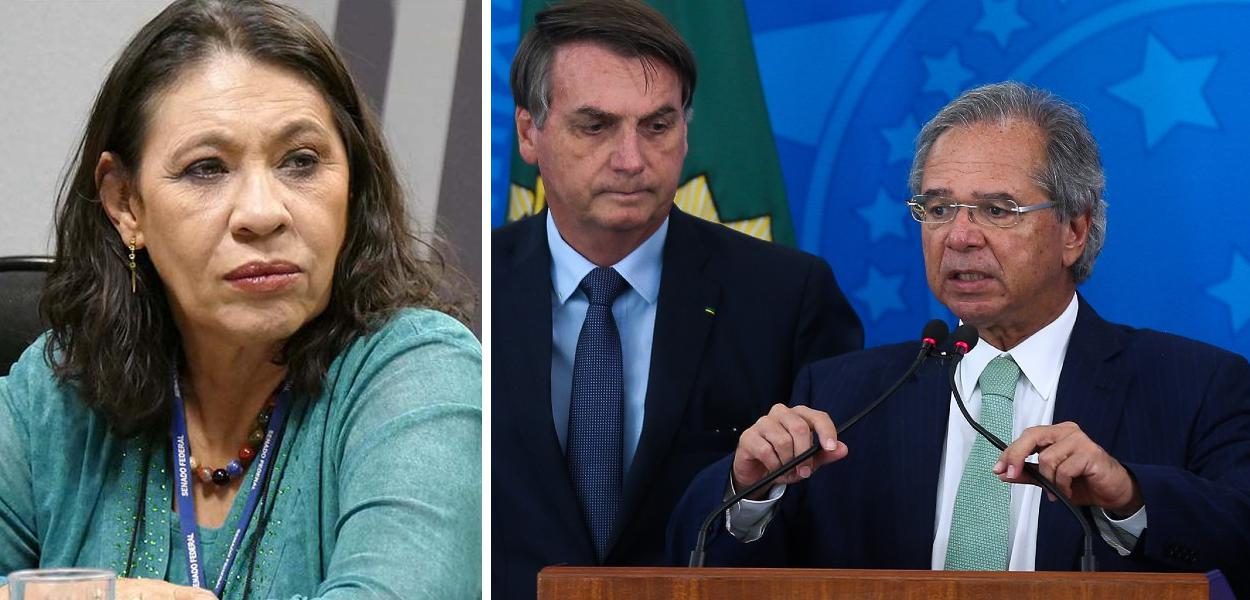 Tereza Cruvinel, Jair Bolsonaro e Paulo Guedes