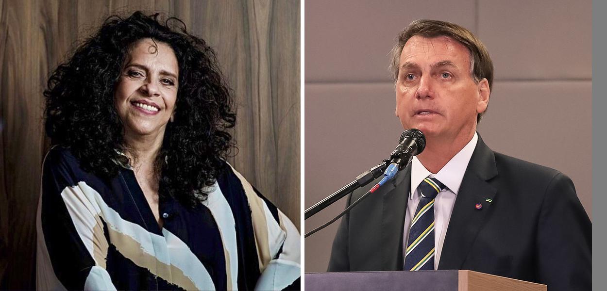 Gal Costa e Jair Bolsonaro