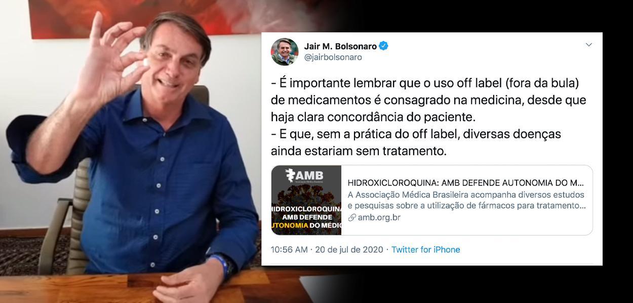 Bolsonaro comenta nota da AMB sobre cloroquina