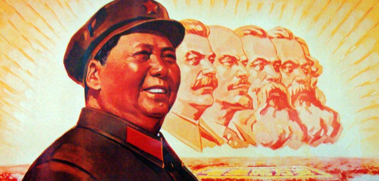 Mao Tse Tung, Stalin, Lenin, Engels e Marx