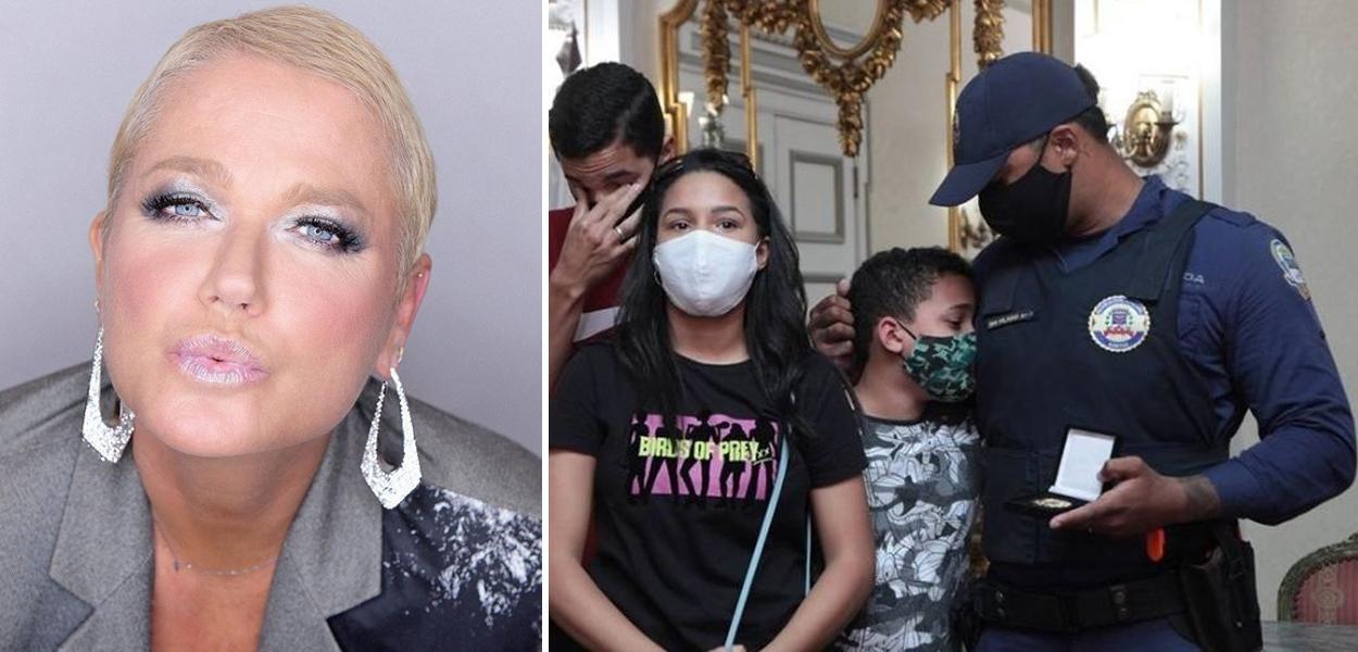 Xuxa e Família do guarda Cícero Hilário se emociona com homenagem ao pai