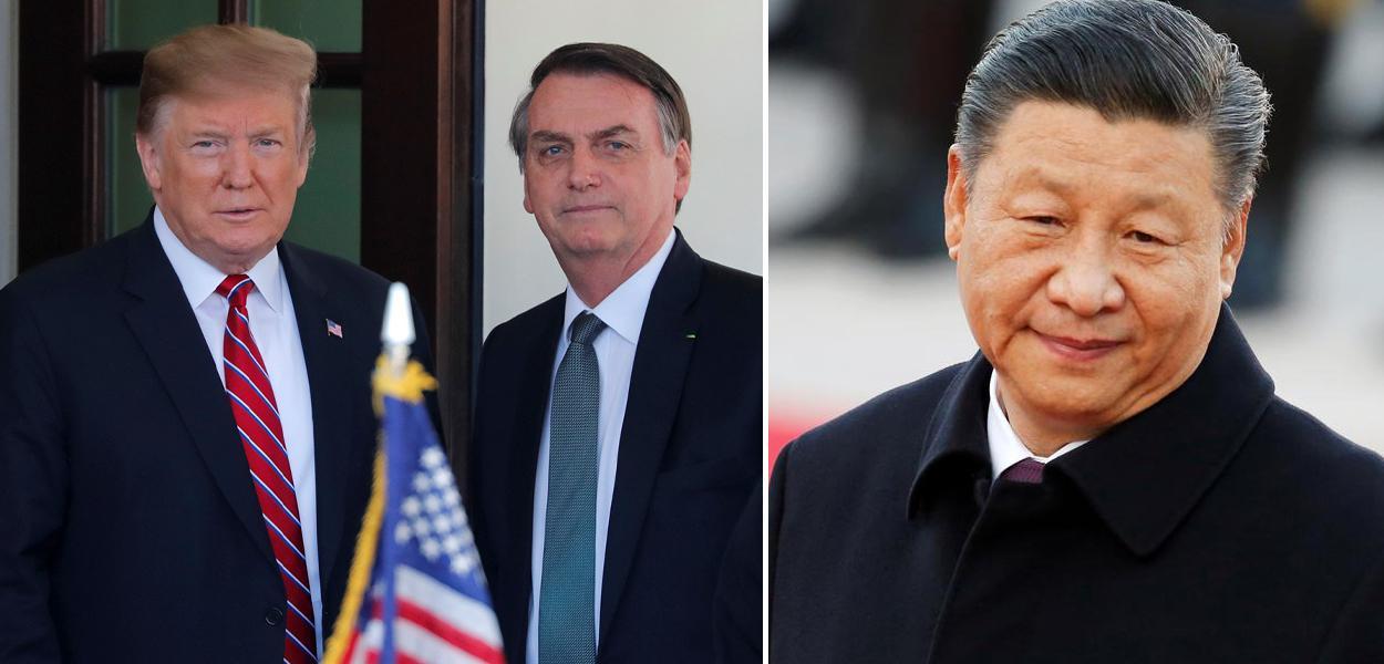 Donald Trump, Jair Bolsonaro e Xi Jinping