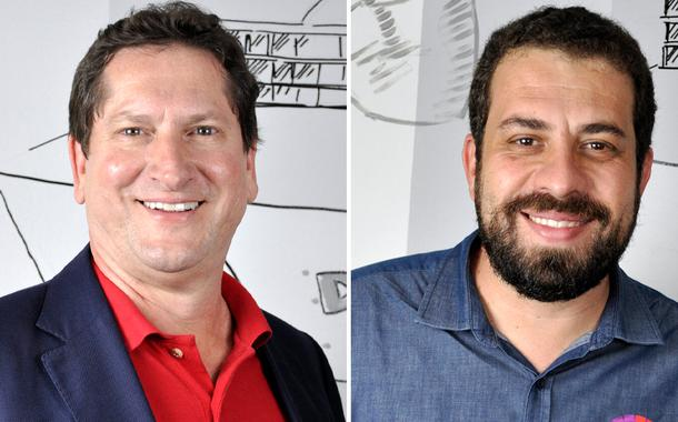 Jilmar Tatto (PT) e Guilherme Boulos (PSOL)