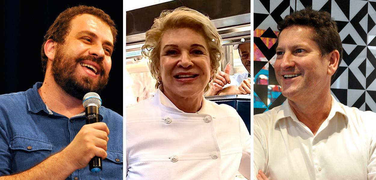 Guilherme Boulos, Marta Suplicy e Jilmar Tatto