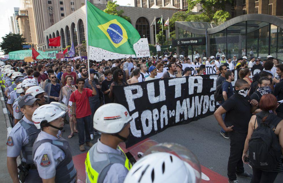 Manifestação contra a copa de 2014