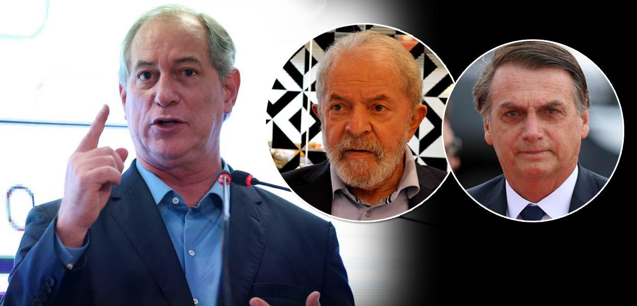 Ciro Gomes, Lula e Jair Bolsonaro