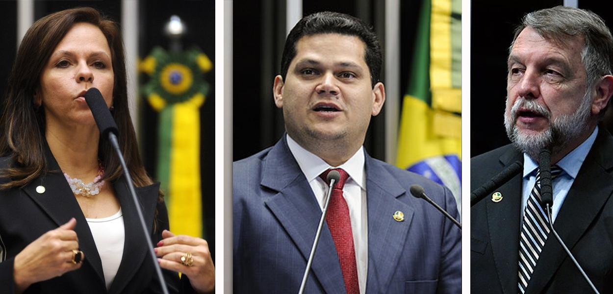 Professora Dorinha Seabra, Davi Alcolumbre e Flávio Arns