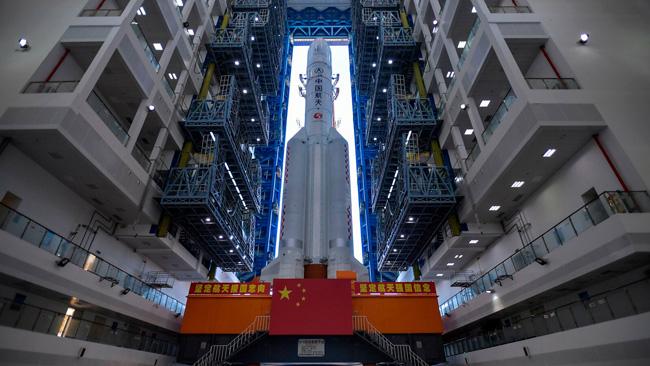 Tianwen-1 na plataforma de lançamento