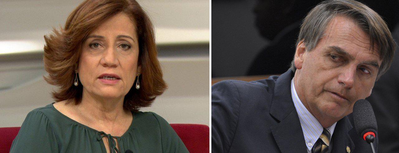 Míriam Leirão e Jair Bolsonaro