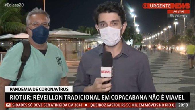 Repórter da Globonews é interrompido por gritos de 'Globo lixo'