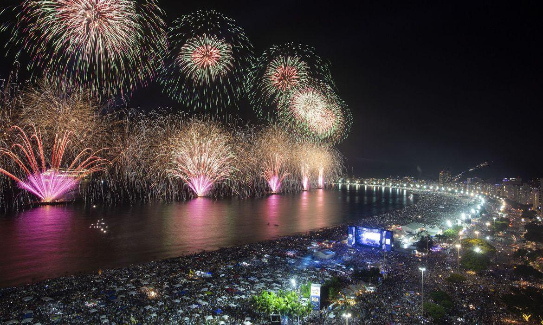 Réveillon em Copacabana, no Rio de Janeiro