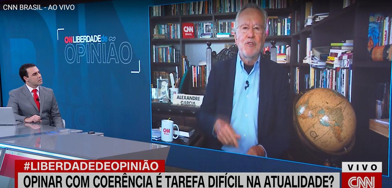 Jornalista Alexandre Garcia comenta na CNN