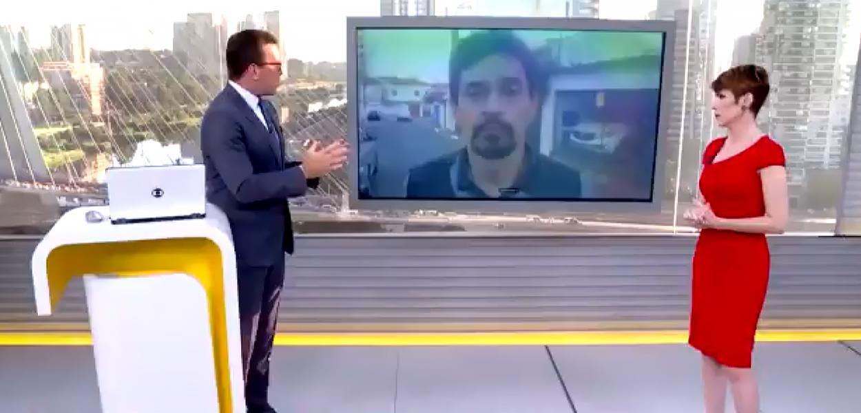 Rodrigo Bocardi toma invertida de metroviário
