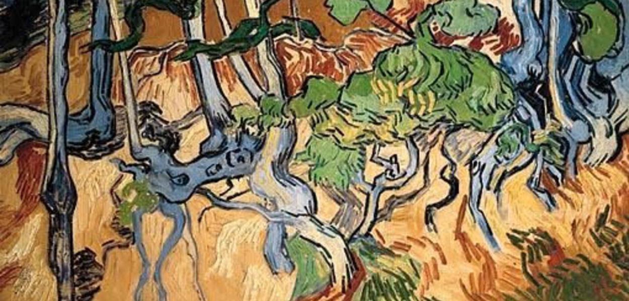 'Raízes de Árvore',  última obre de Van Gogh