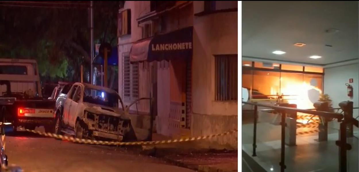 Criminosos fazem ao menos três ataques simultâneos em Botucatu