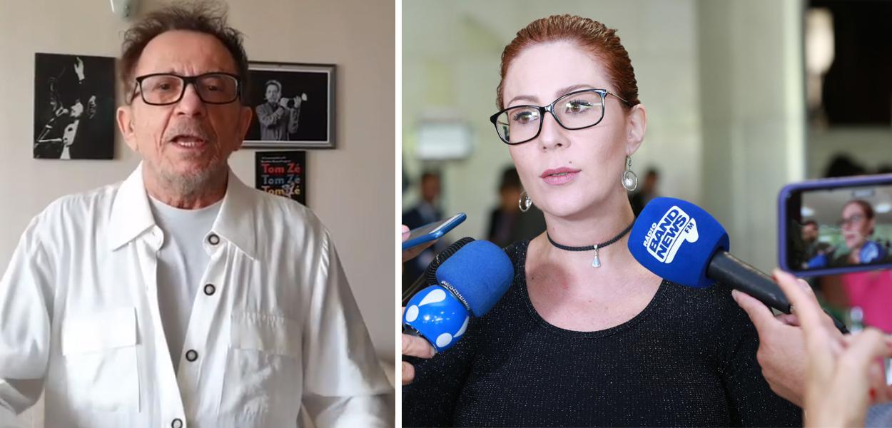 Tom Zé e Carla Zambelli