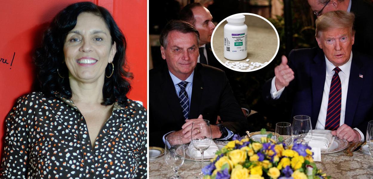 Cynara Menezes, Bolsonaro com Trump e pote de cloroquina