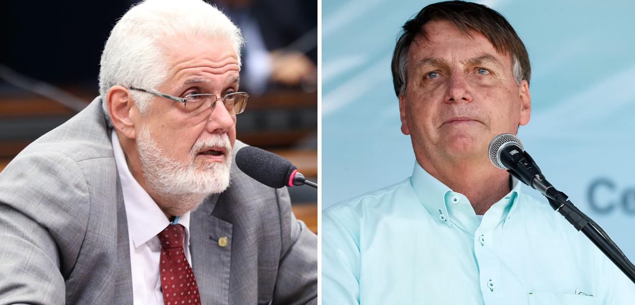 Jorge Solla e Jair Bolsonaro