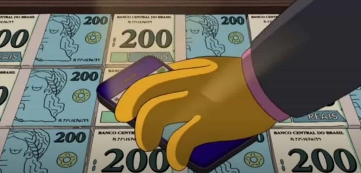 Simpsons previram nota de 200 reais no Brasil