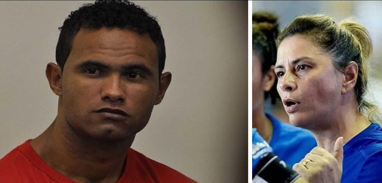 Goleiro Bruno e a treinadora do Rio Branco (AC), Rose Costa