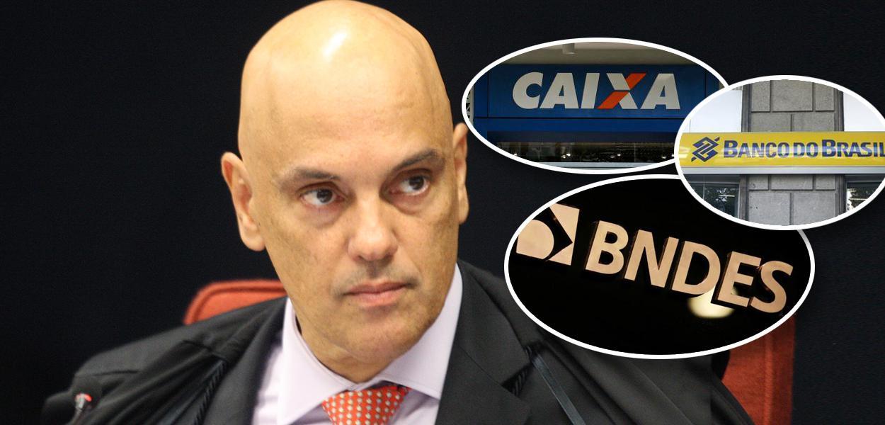 Alexandre de Moraes, Caixa Econômica Federal, Banco do Brasil e BNDES