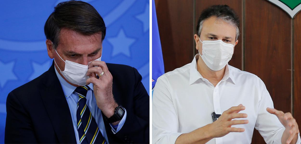 Jair Bolsonaro e Camilo Santana