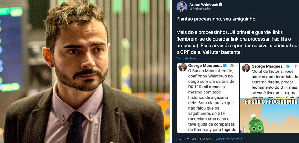 Jornalista George Marques ameaçado por Arthur Weintraub