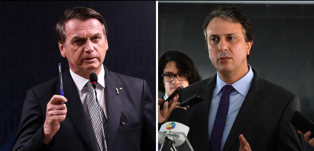 Jair Bolsonaro e Camilo Santana.