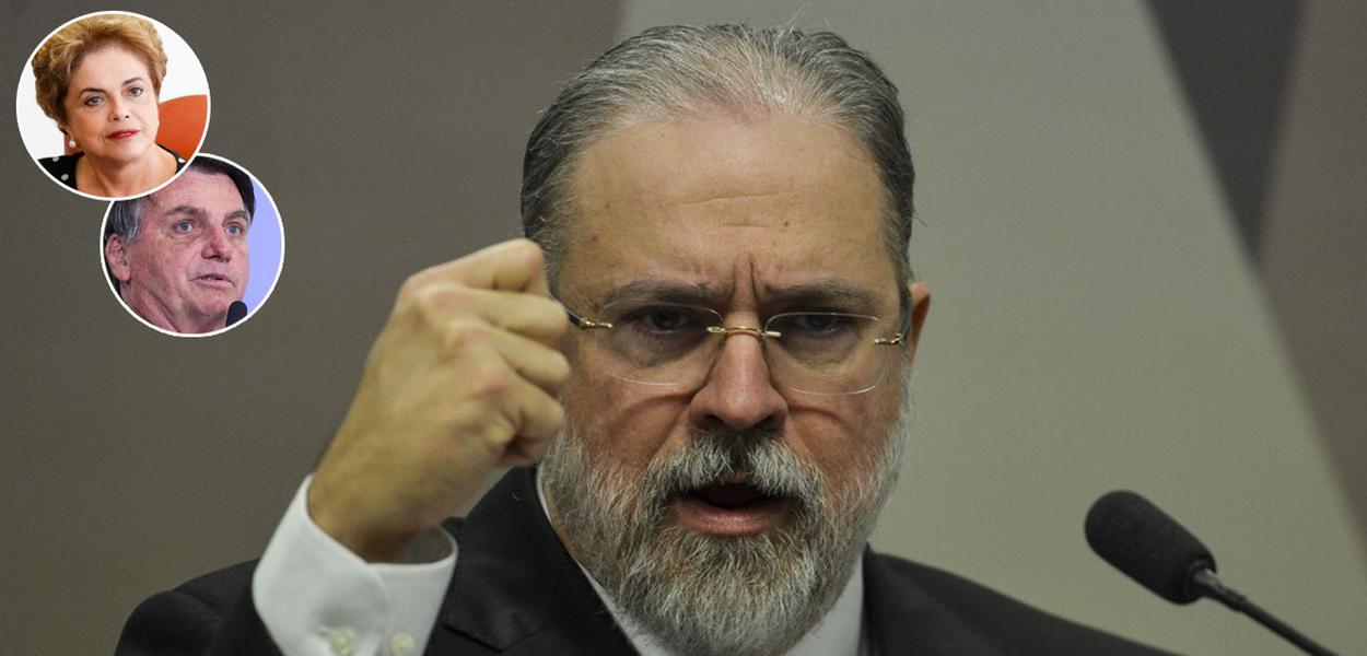 Dilma Rousseff, Jair Bolsonaro e Augusto Aras