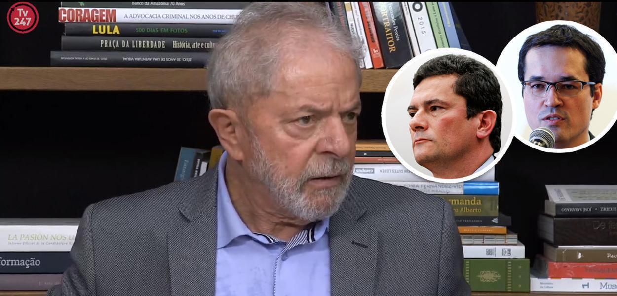 Lula, Sérgio Moro e Deltan Dallagnol