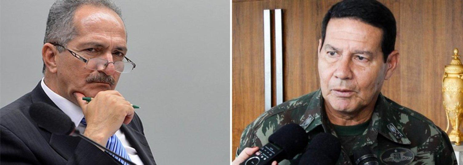Aldo Rebelo e general Hamilton Mourão