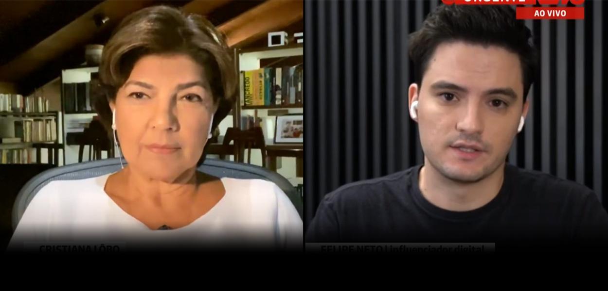 Cristiana Lôbo e Felipe Neto