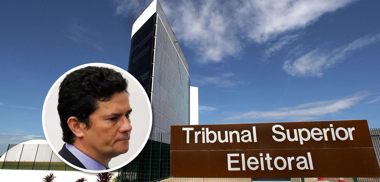 Sérgio Moro e fachada do TSE