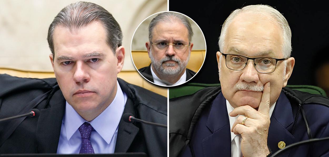 Dias Toffoli, Augusto Aras e Edson Fachin