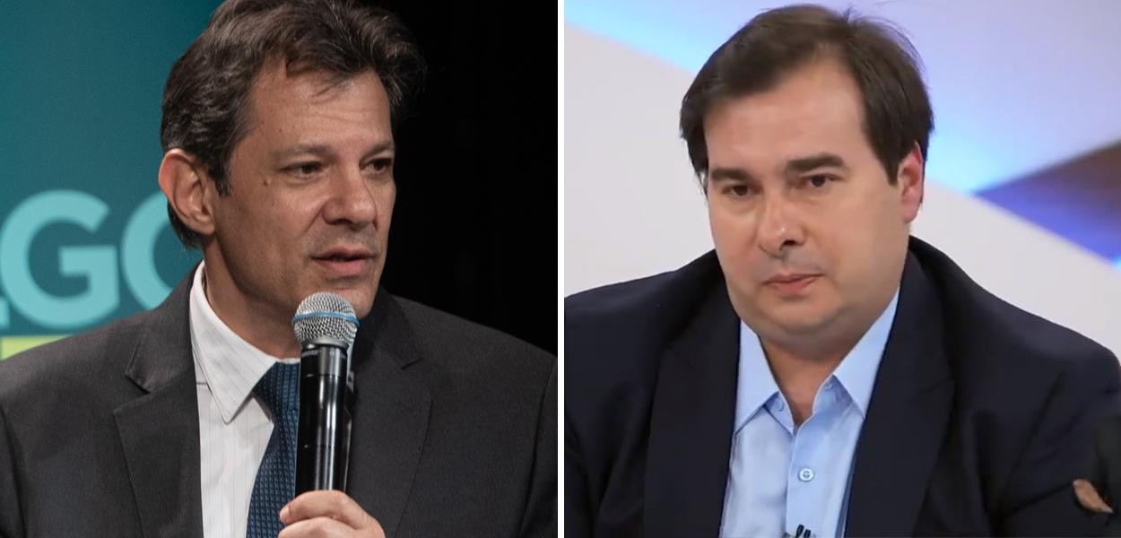 Fernando Haddad e Rodrigo Maia no Roda Viva