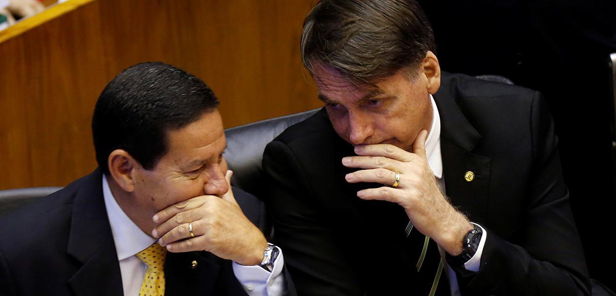 Mourão e Jair Bolsonaro