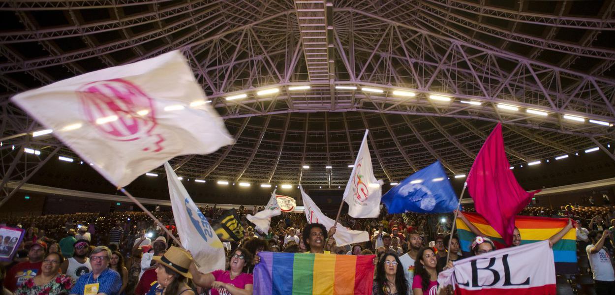 Porto Alegre/RS - Assembléia dos movimentos sociais marca o encerramento  do Fórum Social Temático, em Porto Alegre (Marcelo Camargo/Agência Brasil)