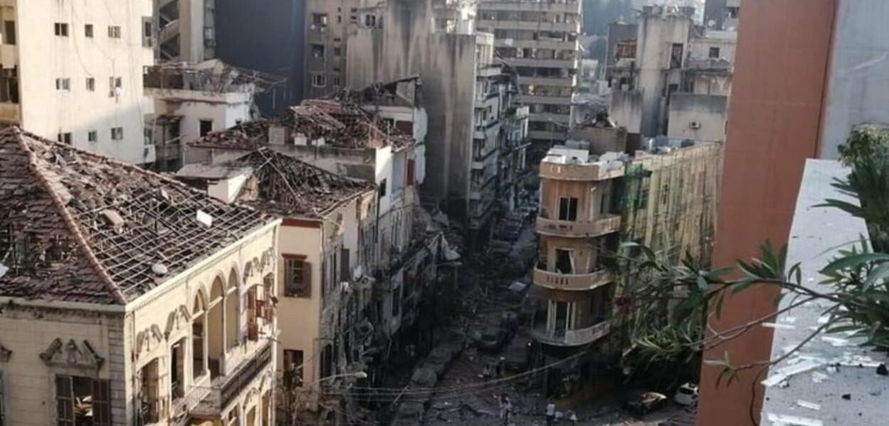 Beirute destruída