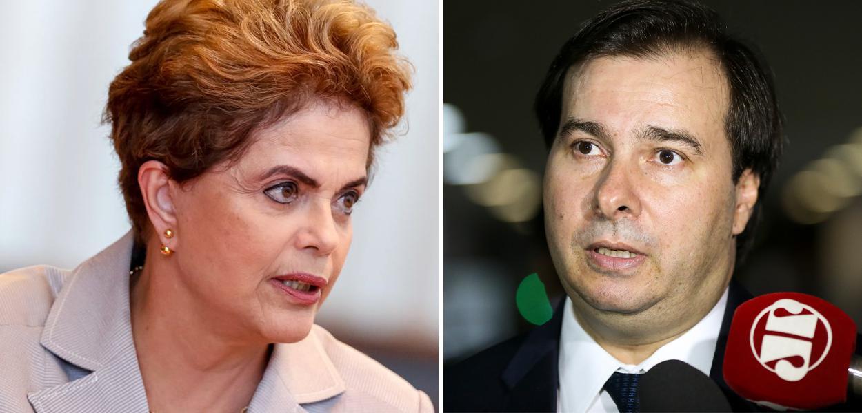 Dilma critica Rodrigo Maia, que defendeu Bolsonaro