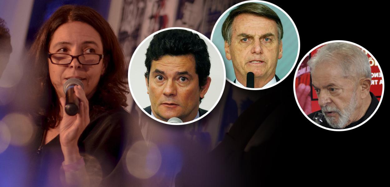 Mônica Bergamo, Sérgio Moro, Jair Bolsonaro e Lula