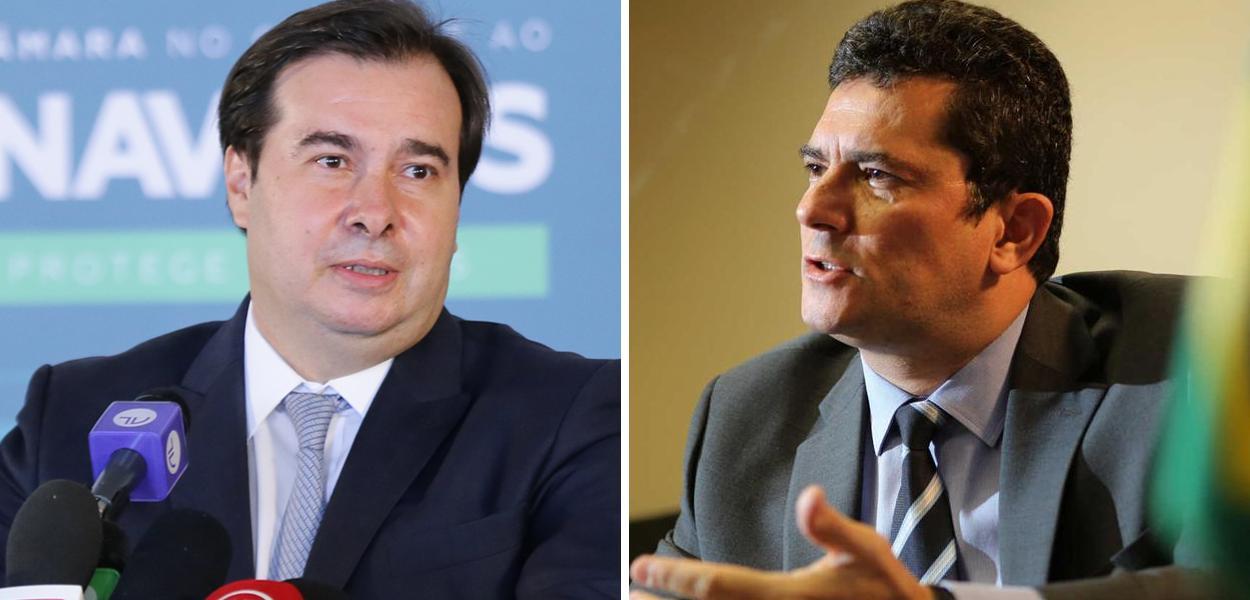 Rodrigo Maia e Sérgio Moro