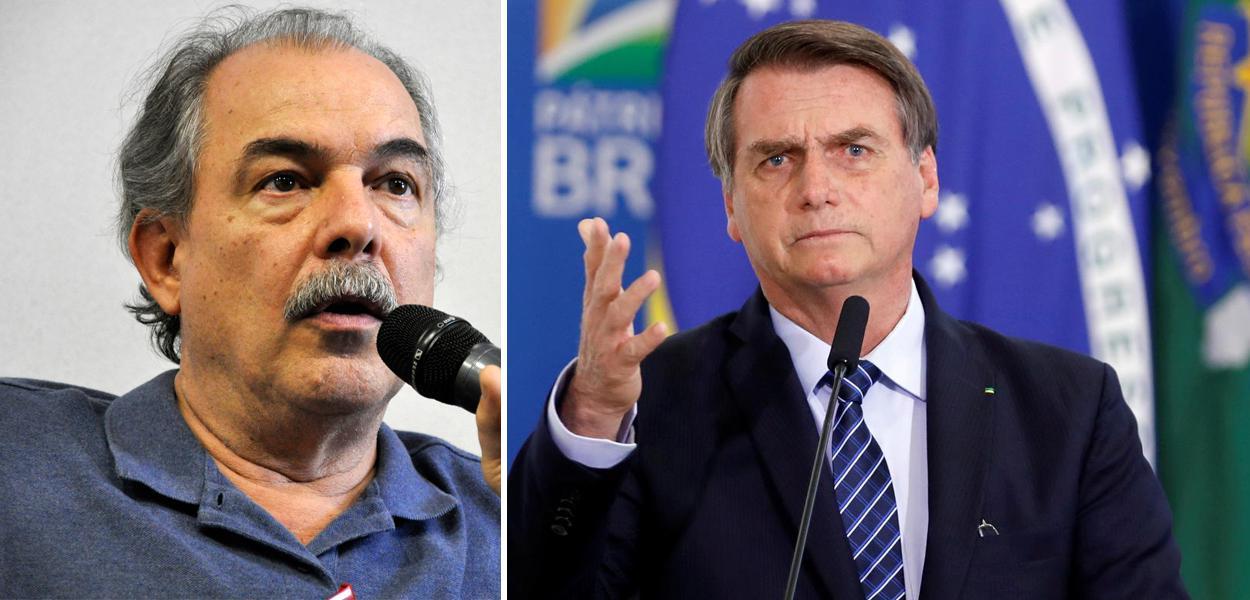 Aloízio Mercadante e Jair Bolsonaro