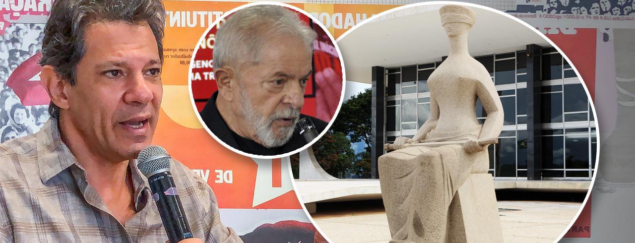 Fernando Haddad, Lula e fachada do STF