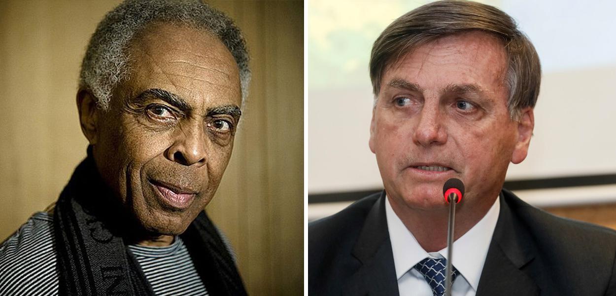 Gilberto Gil e Jair Bolsonaro