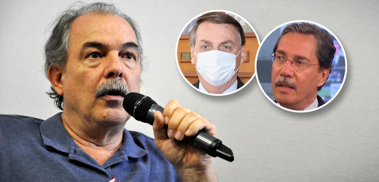 Aloízio Mercadante, Jair Bolsonaro e Merval Pereira