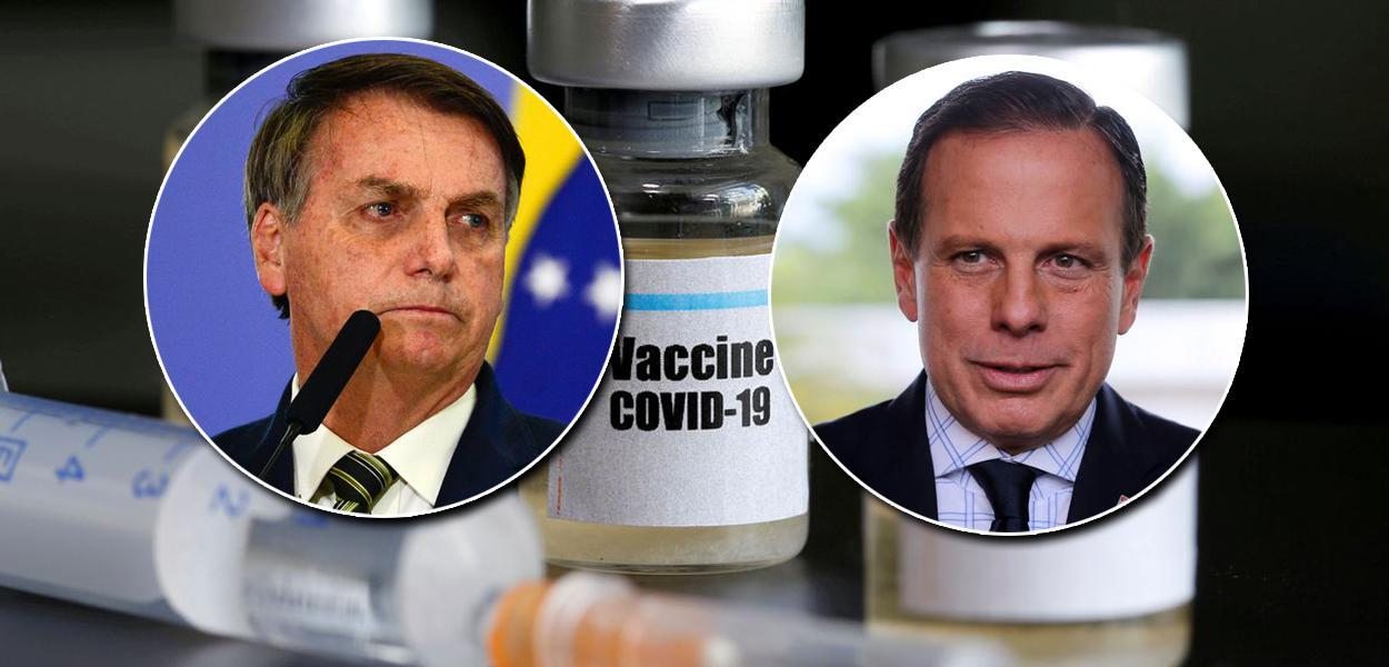 Vacina de Covid-19: Jair Bolsonaro e João Doria
