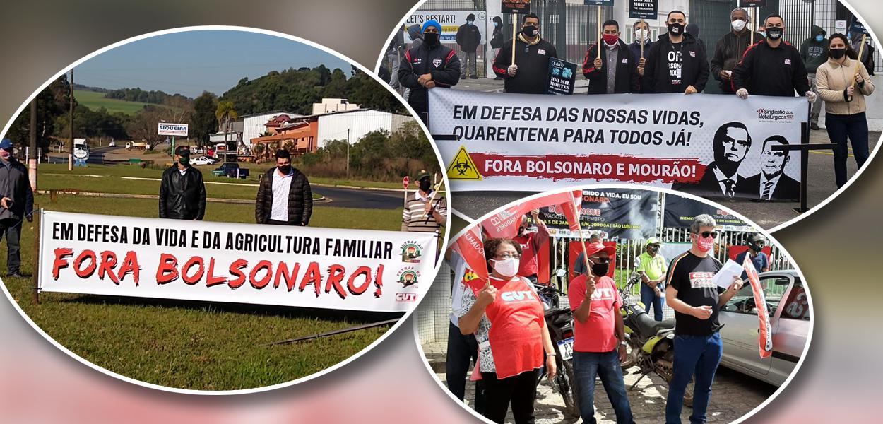 """Centrais promovem Dia de Luto e de Luta pela Vida e pelo emprego e pedem """"Fora Bolsonaro"""""""