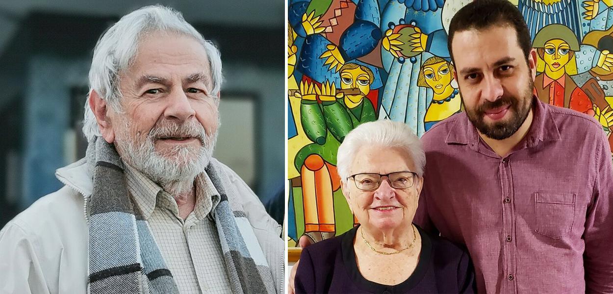 Raduan Nassar, Luiza Erundina e Guilherme Boulos