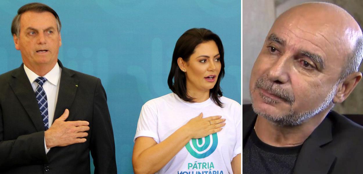 Jair Bolsonaro, Michelle Bolsonaro e Fabrício Queiroz
